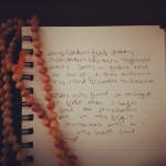 meditation journal with mala beads