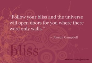 joseph campbell quote on bliss