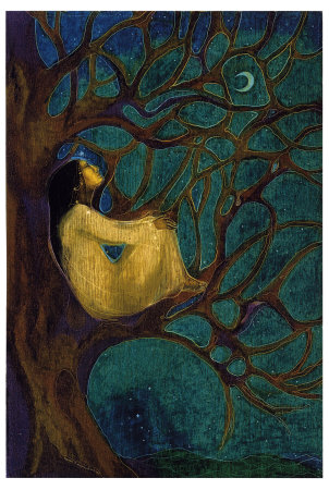 woman's soul in a tree