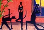 black yoga cat superstition