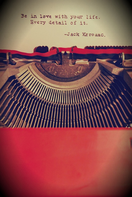 typewritten quote from Jack Kerouac