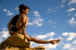 yogini on a rock