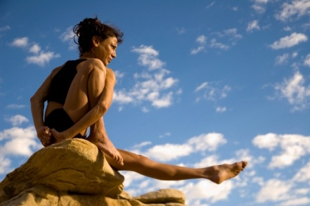 yogini on a rock