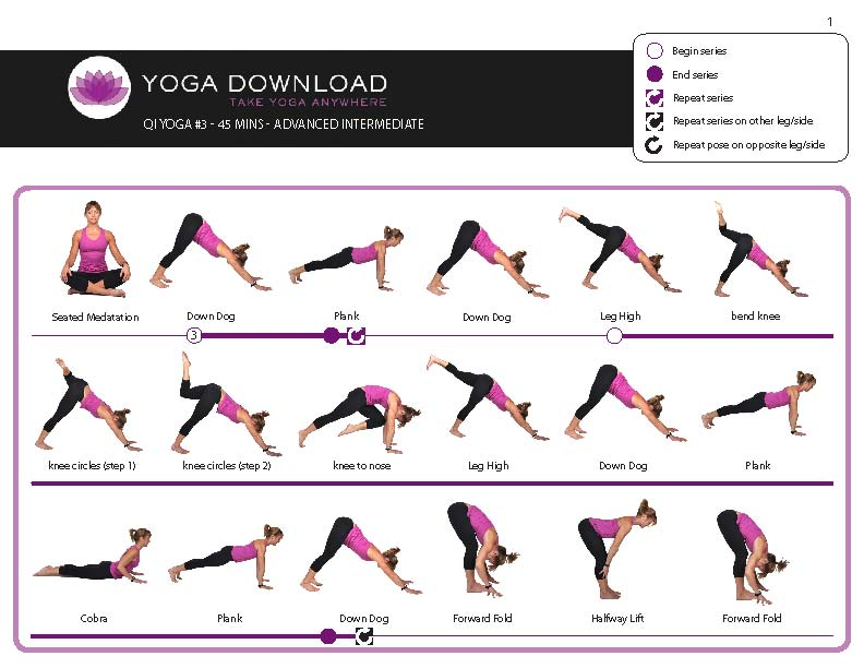 Downloadable yoga pose sequences for all levels