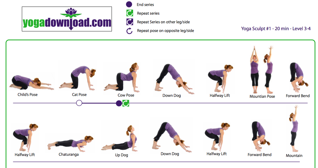 Yoga Poses For Beginners Step By Step 5 downloadable yoga pose ...