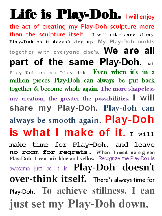 Play-Doh Edict on Life