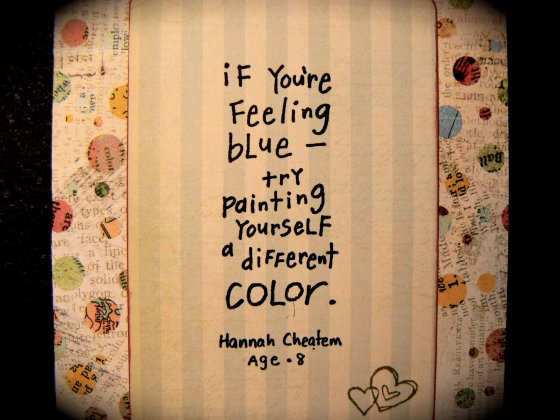 paint yourself a different color quote
