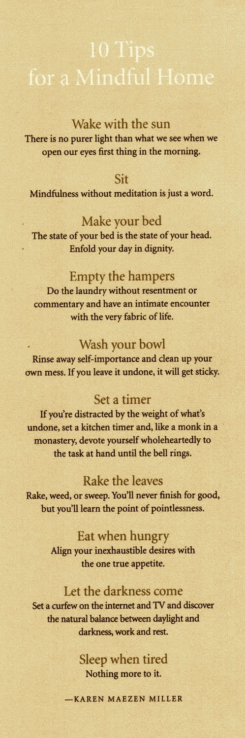 tips for a mindful home