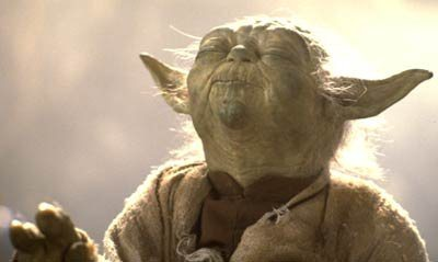 yoda meditating